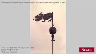 Continental Antique Weather Vane German & Austrian Scientifi