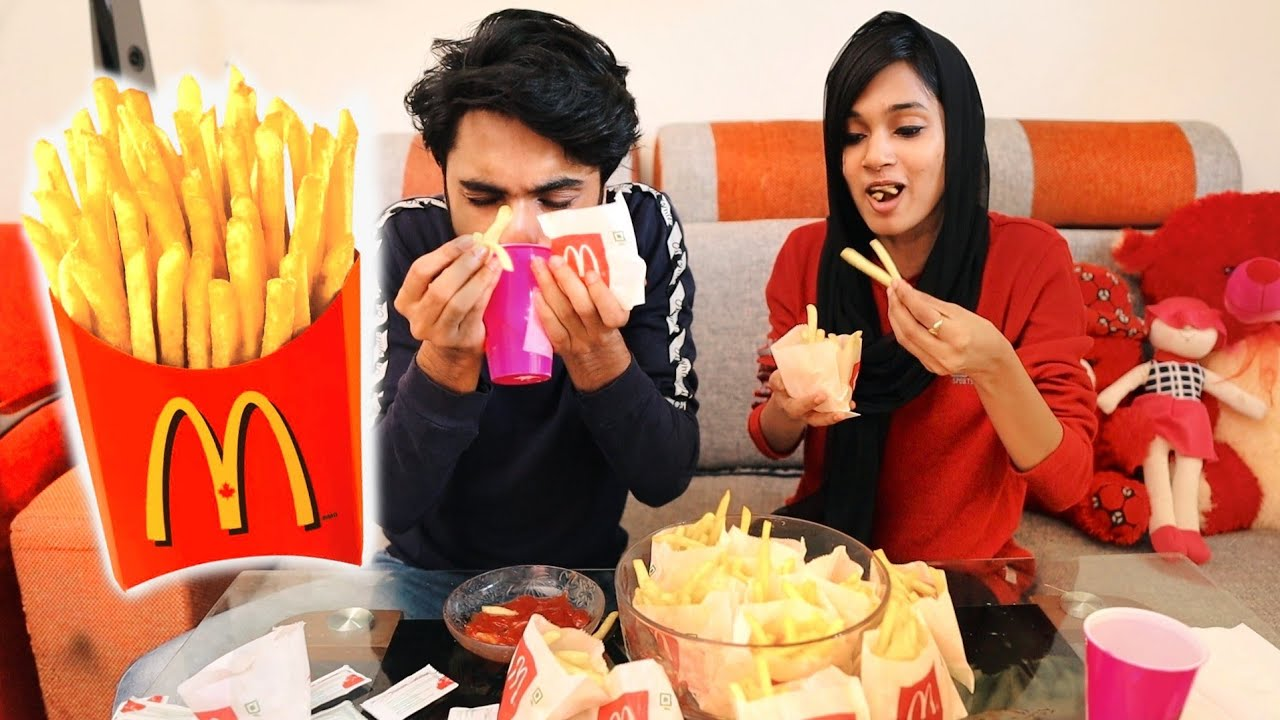 FRENCH FRIES EATING മത്സരം🤩WITH DUDY🤩 UNBOXINGDUDE l