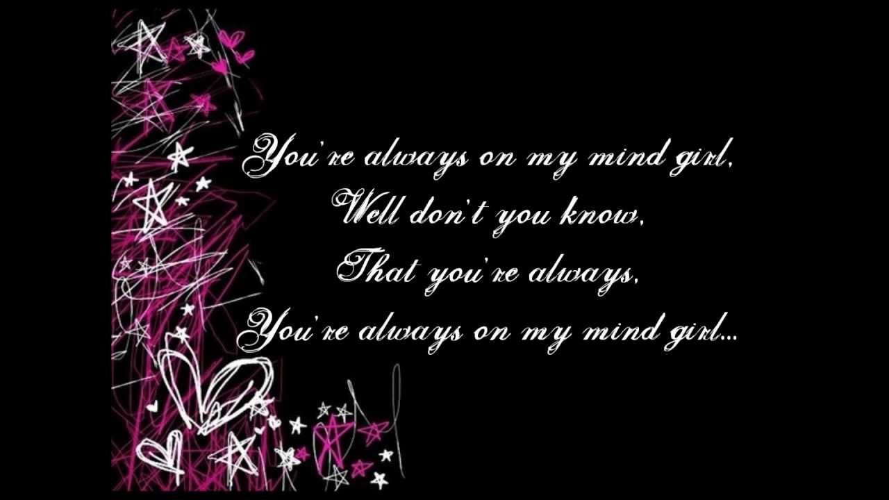 Always On My Mind Tiki Taane Lyrics Youtube