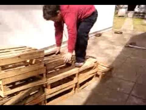 La escalera cajonera youtube - Como hacer sillon de palets ...