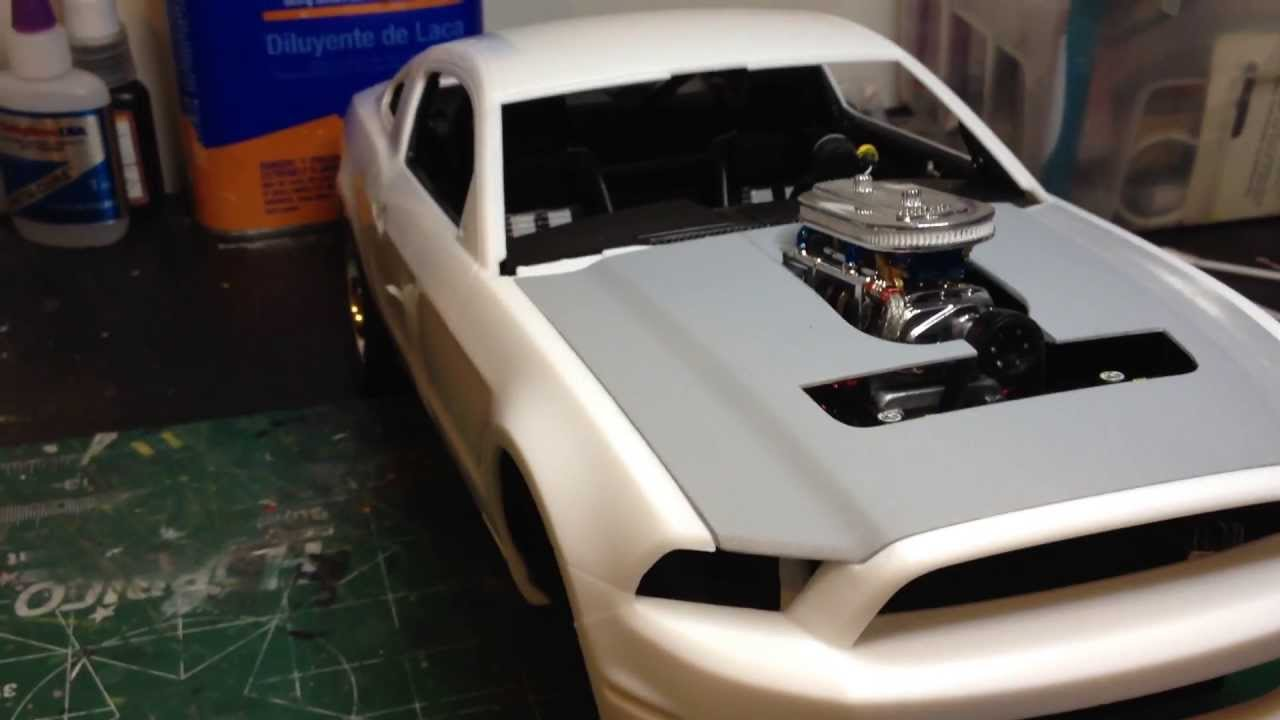 Model car build 2010 ford shelby gt500 pt4