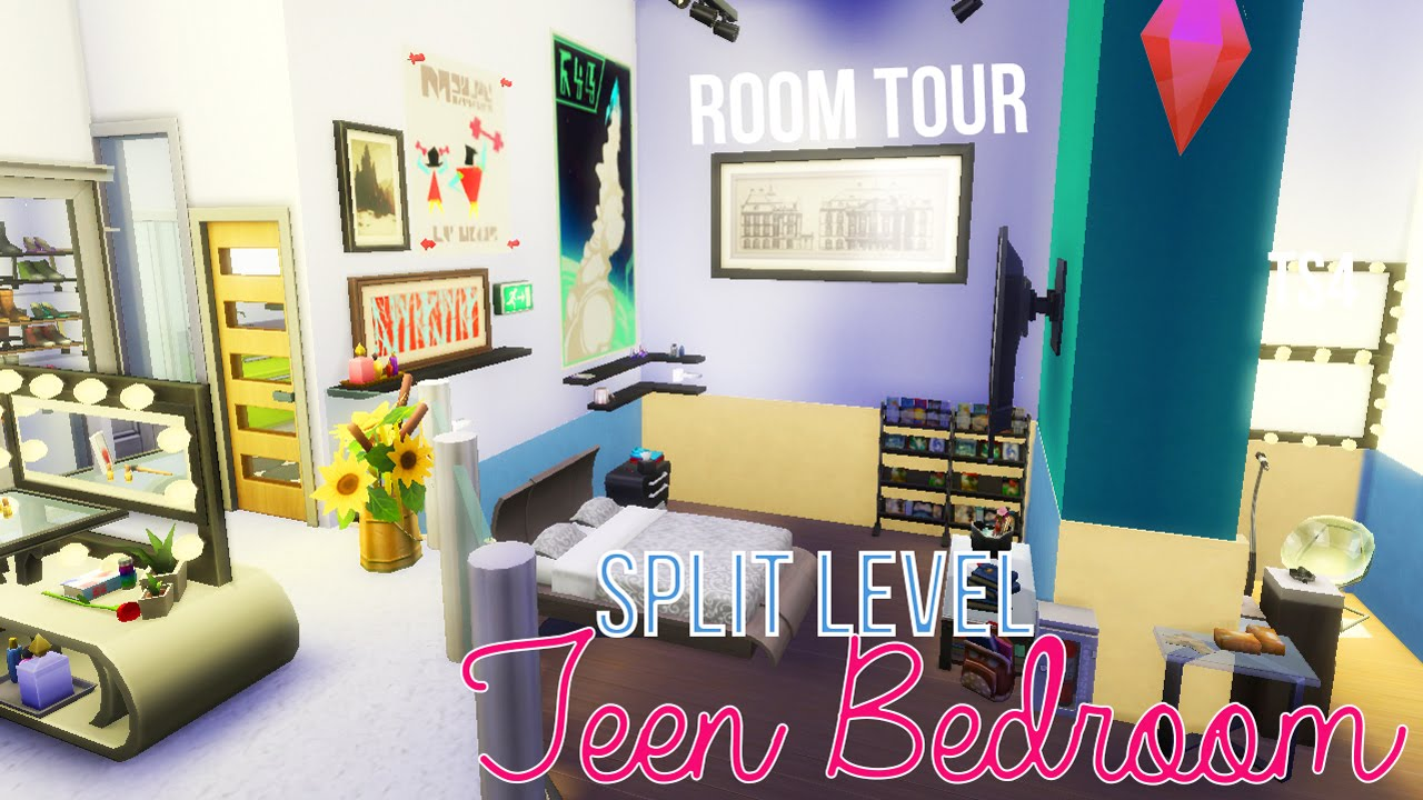 The Sims 4  MY DREAM TEEN BEDROOM no cc  YouTube
