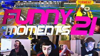 ROCKET LEAGUE FUNNY MOMENTS 21 😆 (FUNNY REACTIONS, FAILS & WINS BY COMMUNITY & PROS!)