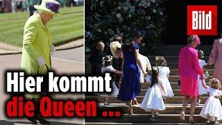 Queen Elizabeth II erscheint bei der Trauung ihres Enkels Harry in ...