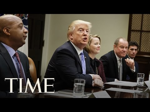 President Donald Trump Holds CEO Town Hall Meeting On American Business Climate | TIME