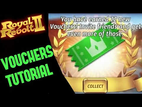 ROYAL REVOLT 2 - HOW TO GET FREE VOUCHERS (+add Friends)