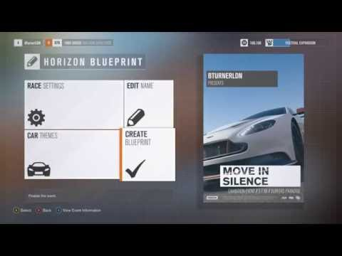 FORZA HORIZON 3 CREATING AN EVENT
