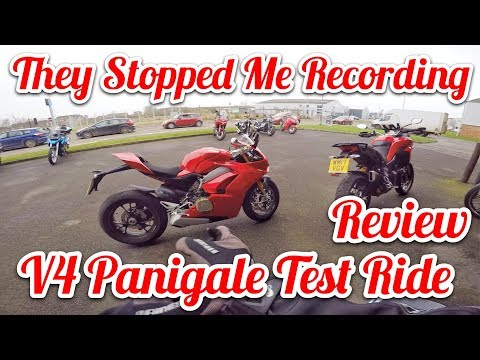 2018 Ducati V4 Panigale Test Ride Review - They Stopped Me Recording