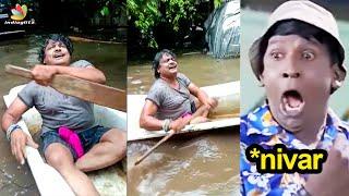 Rakita Rakita பாடி Nivar புயலை கலாய்த்த Mansoor Ali Khan | Sakshi Agarwal, Pugazh | Chennai Rain