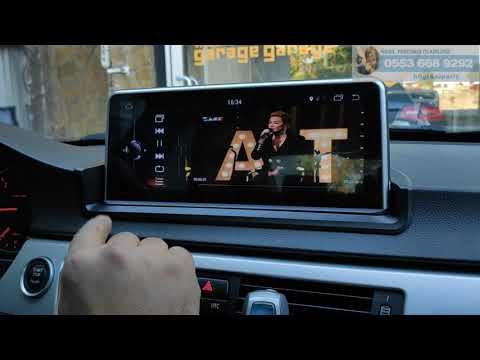 Bmw E90 göğüs üstü android geniş ekran multimedya montajımız - Emr Garage Ankara