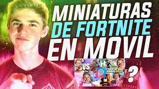 HOW TO MAKE FORTNITE THUMBNAILS IN FREE MOVIL Picsart Tutorial