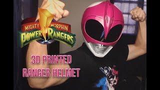 Mighty Morphin Power Rangers - 3D Printed Pink Ranger Helmet   #3Dprint #helmet #powerrangers 💗😁🤙