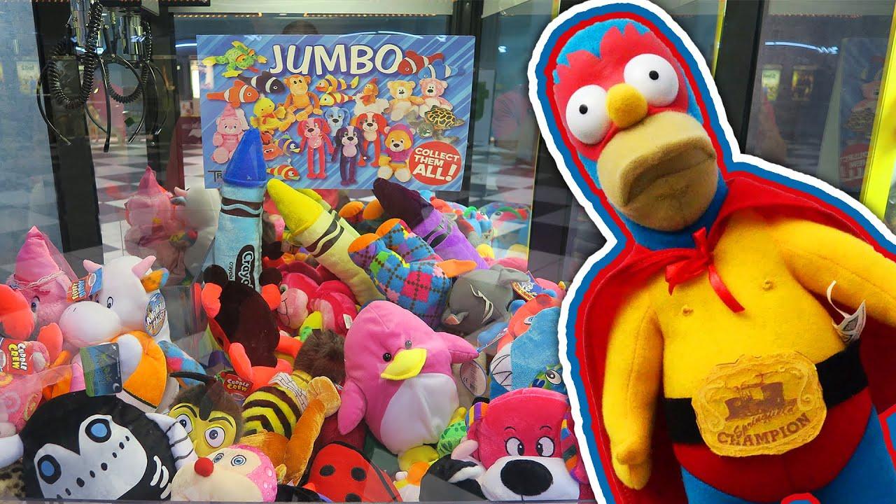 Tigon and Super Homer  Claw Machine Wins  YouTube