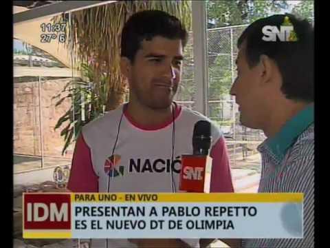 Presentan a Pablo Repetto como nuevo DT de Olimpia