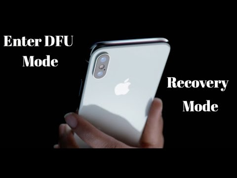 iPhone X / iPhone 8 How To Enter DFU / Recovery Mode and Force Restore