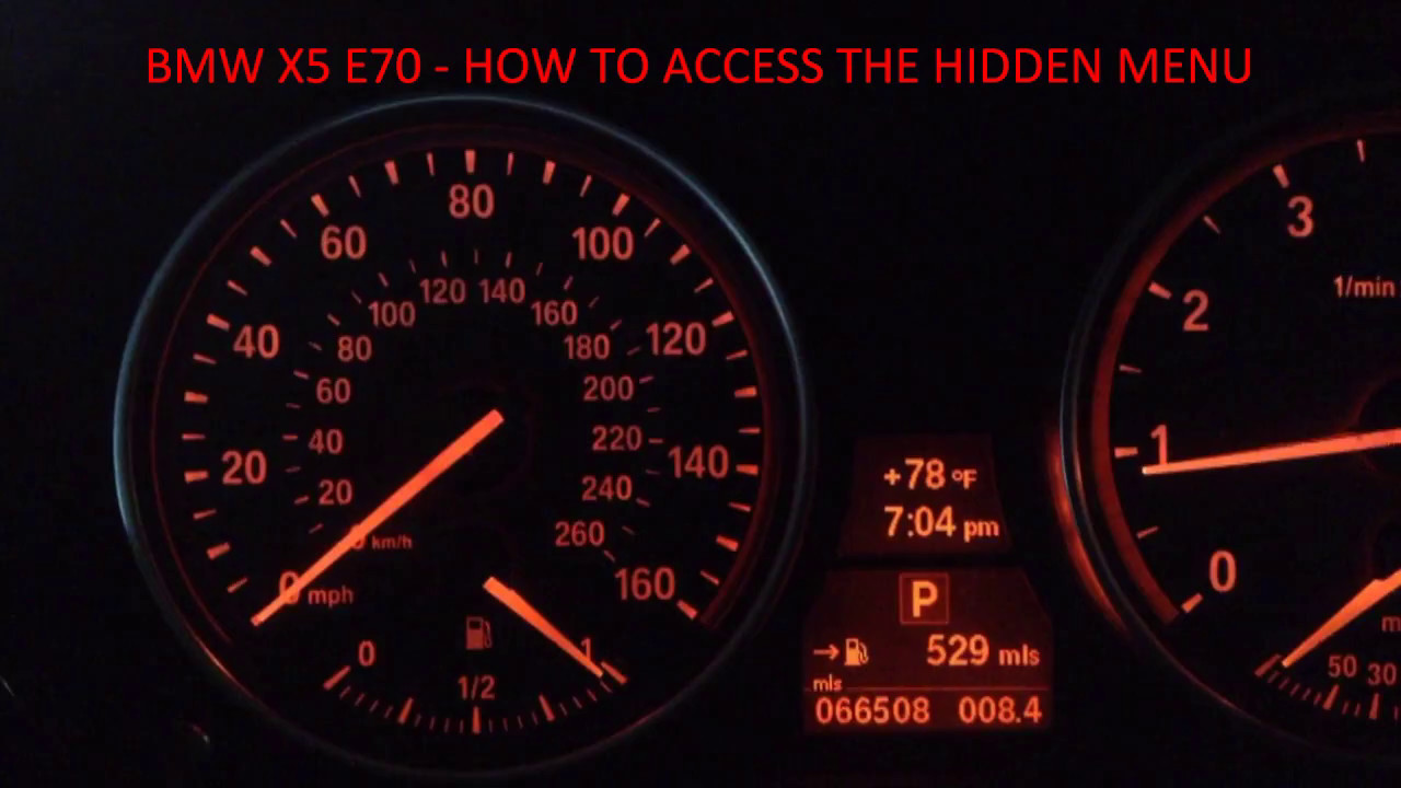 bmw x5 how to access the hidden menu e70 35ix n55 engine [ 1280 x 720 Pixel ]
