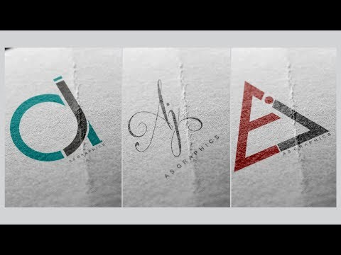 Logo Design Tutorial | AJ , JA Logos - Deisgn in CorelDraw x7 thumbnail