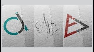 Logo Design Tutorial | AJ , JA Logos - Deisgn in CorelDraw x7