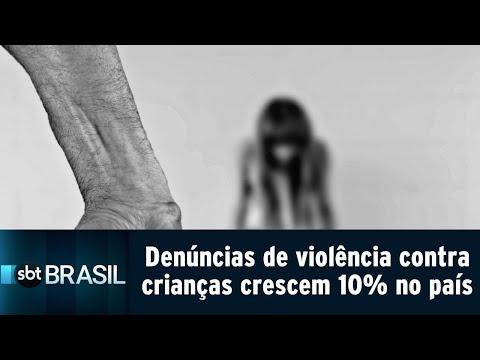 Em um ano, denúncias de violência contra crianças crescem 10% no país | SBT Brasil (23/08/18)