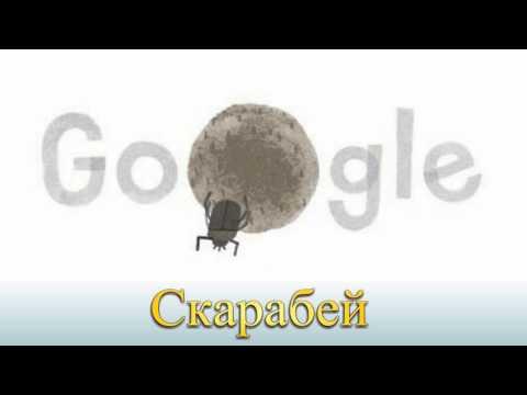 Скарабей Scarabaeus sacer Google Doodle День земли