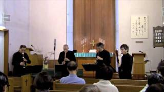 Bach Musical Offering Canon a 4 BWV1079 Sekishi Recorder Quartet Oc...