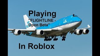 "Fliegen A 747 In ""FLIGHTLINE - Open Beta"" Roblox"