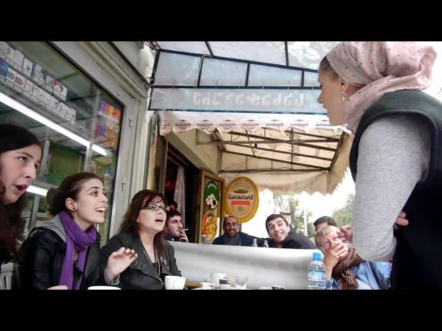 Young Georgians singing a Gospel song