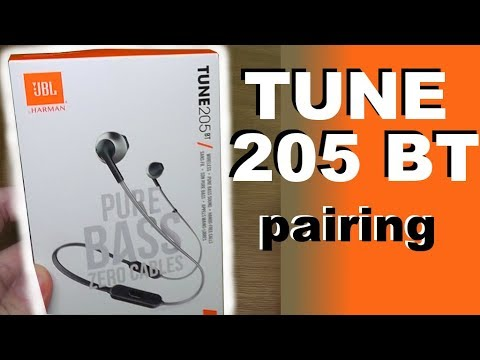 3da045562 How to pair JBL TUNE 205 BT pure bass - bluetooth headphones with your phone