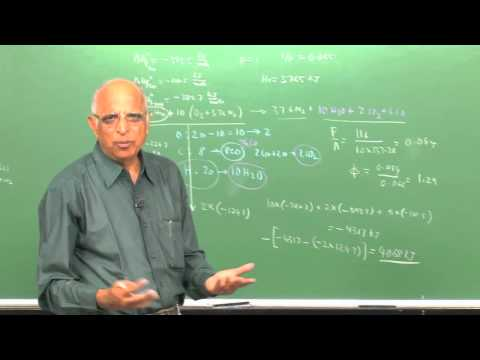 Mod-01 Lec-15 Energy Release: Examples of Energy Release Calculations, Higher and Lower Calorific