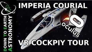 IMPERIAL COURIER VR COCKPIT TOUR | ELITE DANGEROUS