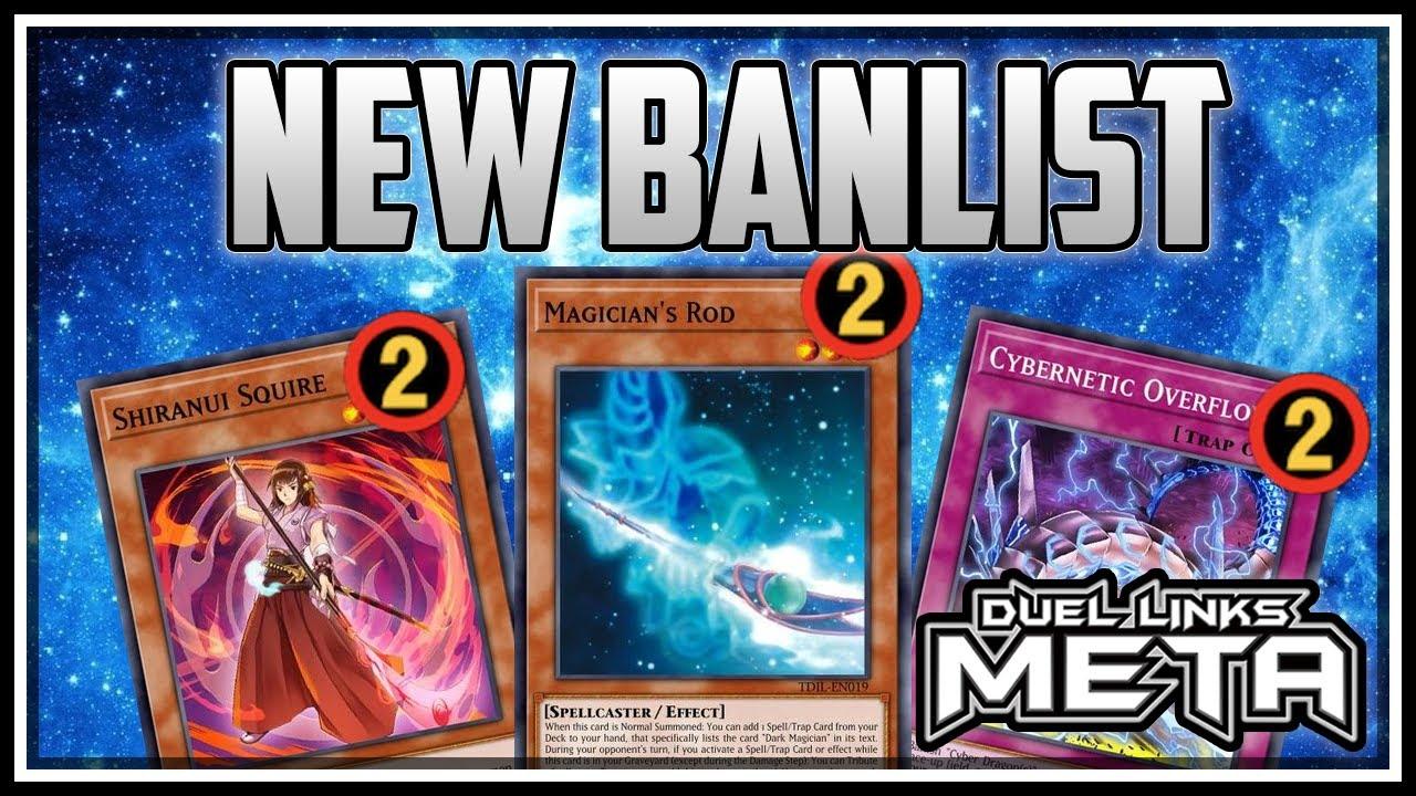 New Banlist! Dark Magician, Shiranui, Cyber Dragon! [Yu-Gi-Oh! Duel Links]