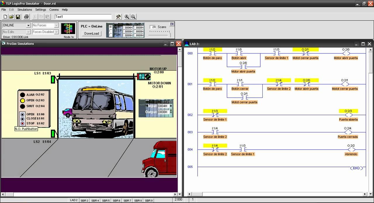 Plc Control De Una Puerta Por Medio De Un Plc Simulador