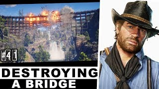 DESTROYING TRAIN BRIDGE WITH JOHN - RED DEAD REDEMPTION 2 (PS4) FULL GAMEPLAY [HINDI] #41