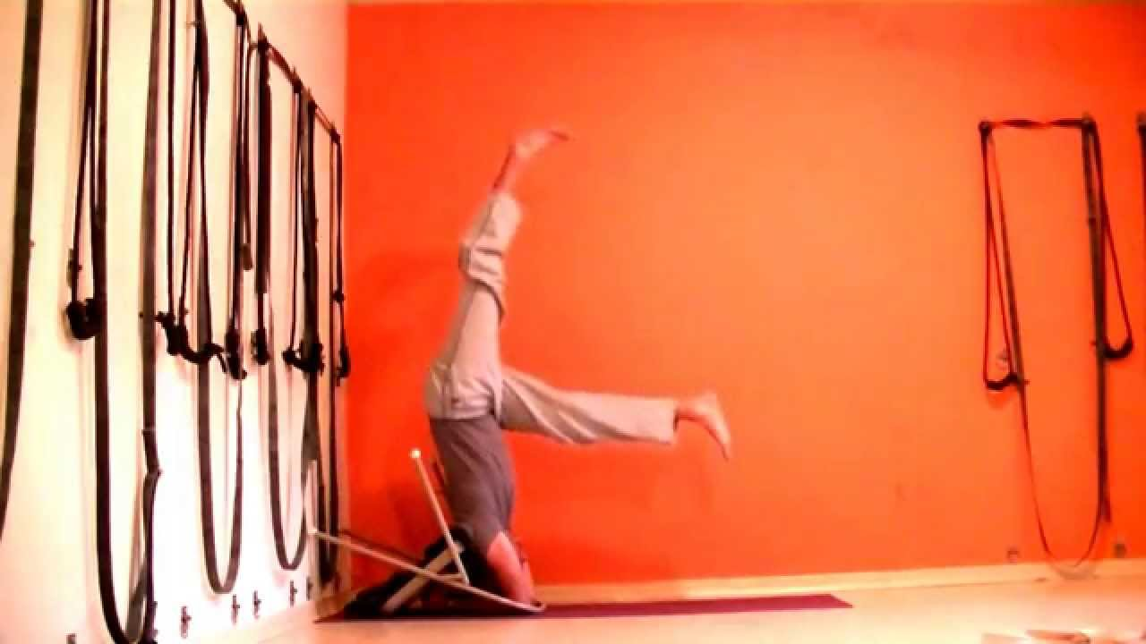 Headstand Using Chairs