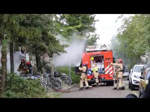 Uitslaande woningbrand Radijsstraat Groningen