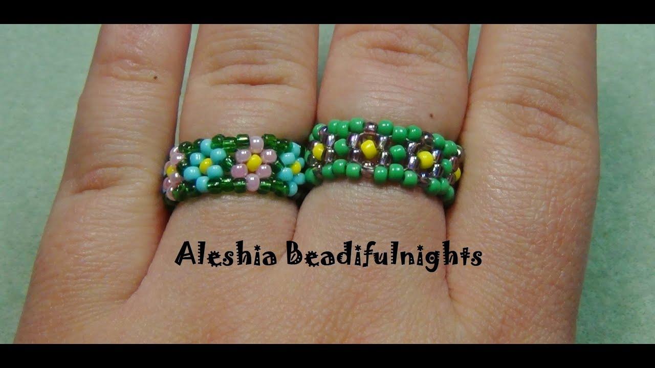 Daisy chain stitch beaded ring tutorial youtube daisy chain stitch beaded ring tutorial baditri Choice Image