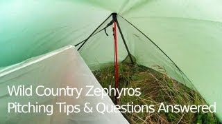 Wild Country - Zephyros 1 Tent - Pitching Tips & Questions Answered