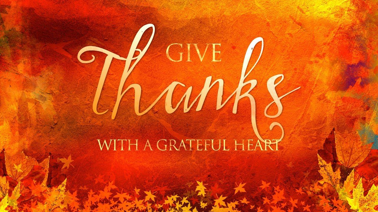 Thanksgiving Service November 25, 2020