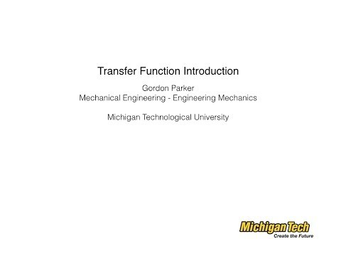Transfer Function Introduction