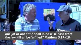 Evangelical street preacher questioned by atheist Brendan Maher in Galway