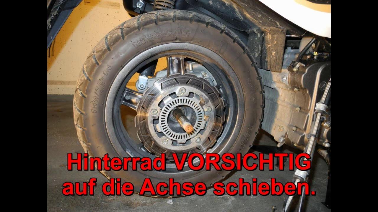 Hinterrad Wechsel Kymco Xciting 500i R Abs