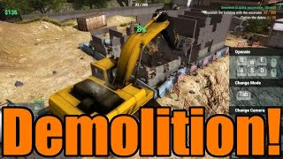 Construction Machines Simulator 2016 | Excavator Demolition!