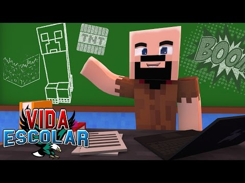 Minecraft: NOTCH VISITA A ESCOLA! #21 (VIDA ESCOLAR )