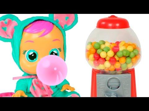 👶 LOS COLORES 👶Aprendemos los colores con la máquina de chicles y el bebé llorón Lala