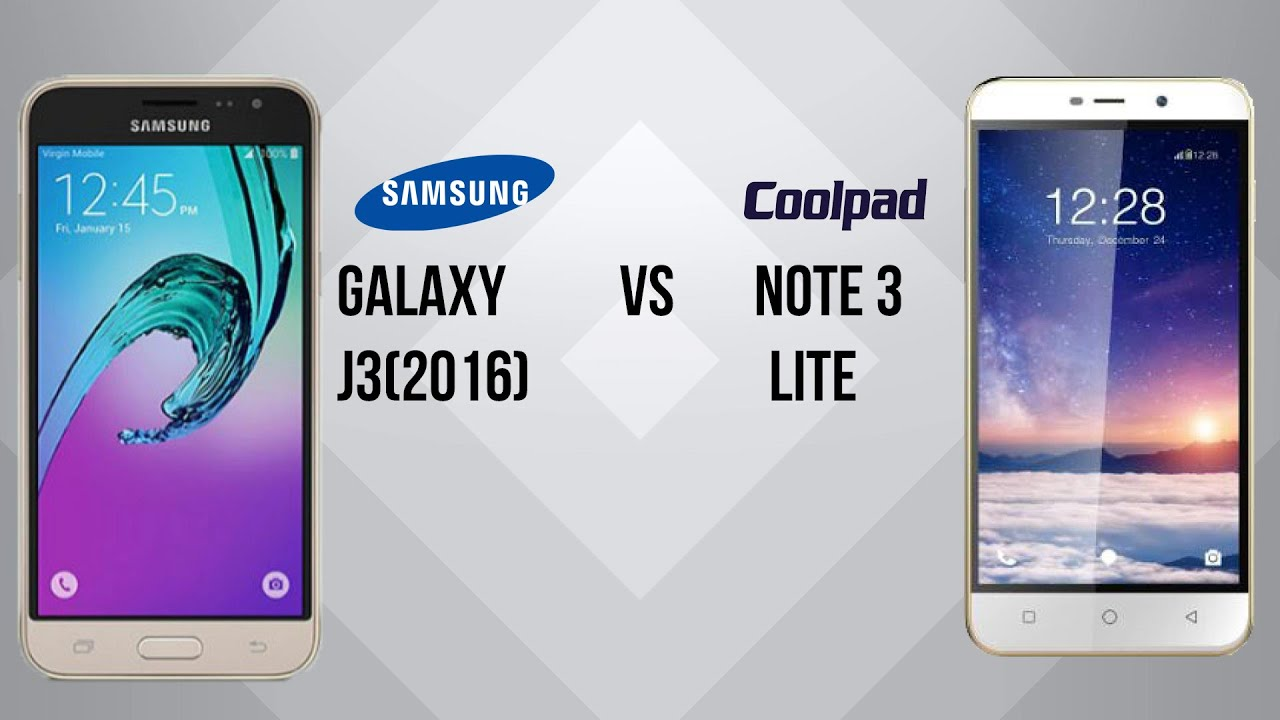 samsung galaxy j3 2016 vs coolpad note 3 lite youtube. Black Bedroom Furniture Sets. Home Design Ideas