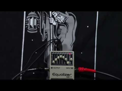 Boss GE-7 EQ pedal demo review monte allums
