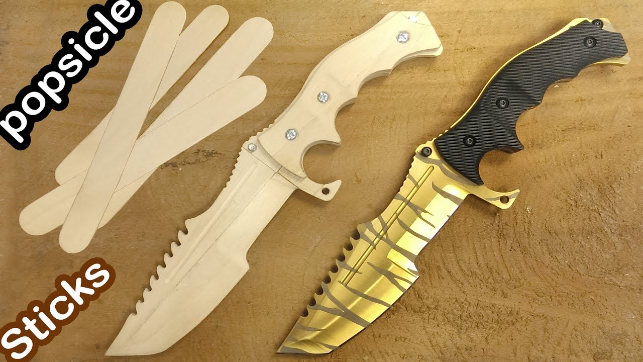 knives to go how to make csgo huntsman knife from popsicle sticks youtube