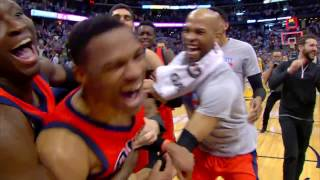 russell westbrook nba record 42nd triple double full game highlights   april 9 2017