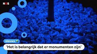 Kinderen herdenken Holocaust met lichtgevende stenen