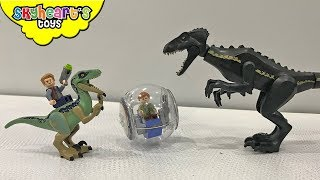 Jurassic World LEGO TOYS | Skyheart plays with Blue, Owen, Indoraptor, Trex dinosaur toys for kids
